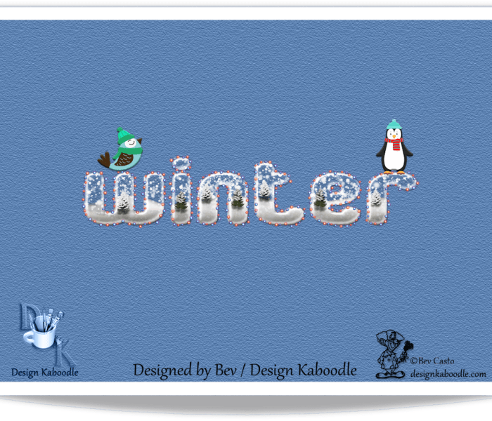 Winter Wonerland Wordart