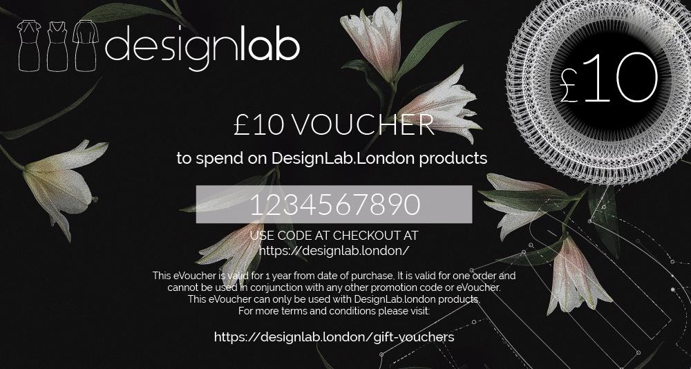 £10 designlab gift voucher