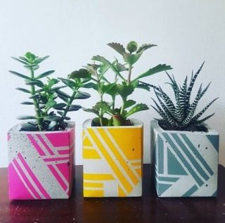 @ail.and.el (Aileen Balfe) is one of my favourite Irish designers for homewares products.   We stocked her beautiful planters (and more) in Dust all the way from when we had a little pop up store in Dublin 8 six years ago. I still have her planters going strong from those days! I think I might need to add to my collection with one of the two tone versions. ❤🧡👀👀  She creates beautiful, geometric patterns on a concrete base with amazing vibrant colours. They're really eye-catching pieces that people always comment on. She can also supply the succulents to go in them which as a certified plant-destroyer, I can confirm are completely impossible to kill. Yay!  Have a little browse through her Insta and website, I dare you not to end up buying something! #buylocal #christmasshopping #designintheeveryday #ahappyhome #adesignledworld