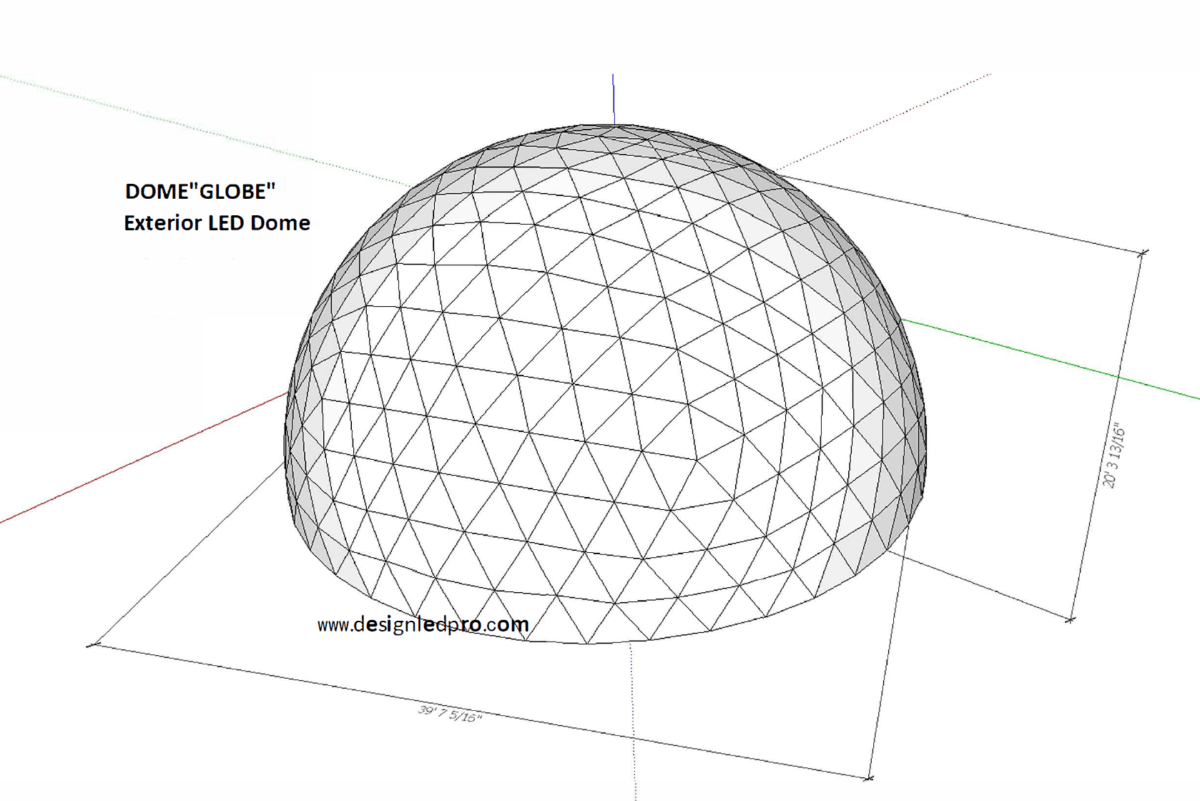 Projection Dome And Led Globe Dome