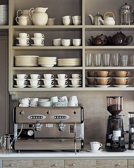clever kitchen design. Kitchen Designs 17 Storage Solutions  Open cupboards over the coffee machine www designlibrary 13 Clever Design Ideas