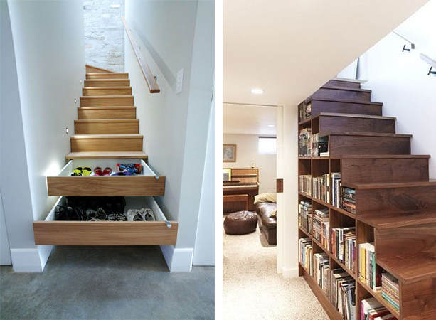 Stairs with Draws & Stairs with Shelves - The Ultimate Guide To Stairs Design - Stairs Regulations Part 2 of 3 - www.designlibrary.com.au