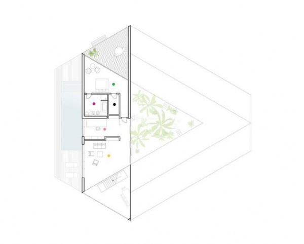 triangular house concept and plans  u2013 interior design