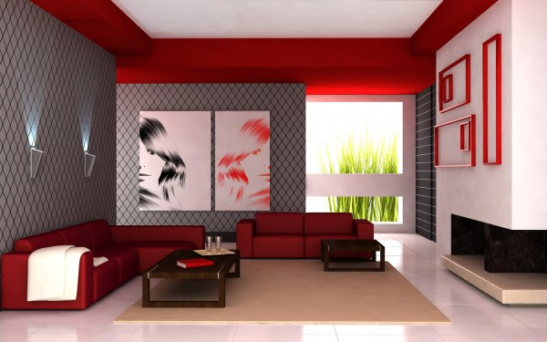 red-paint-color-for-modern-living-room