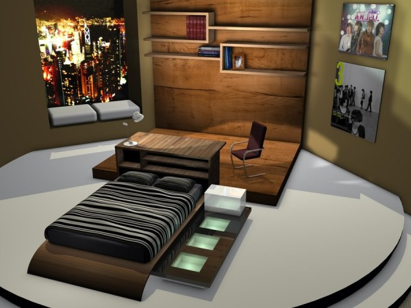 Modern Penthouse Bedroom