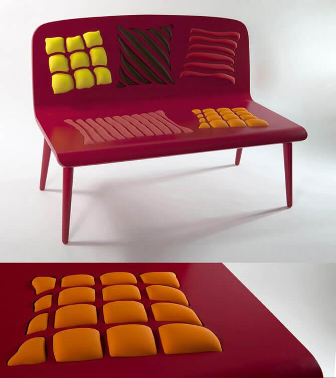 Raspberry-red-bench