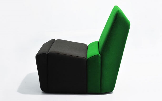 Black-and-green-chair