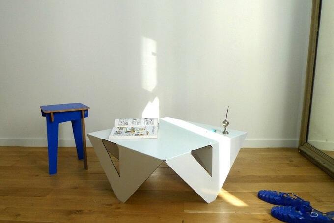 White-table-design