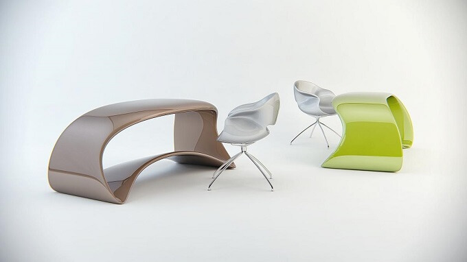 Table-with-fluid-forms