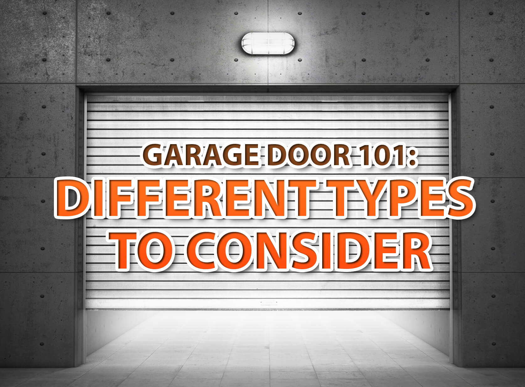 Garage Door 101 Different Types To Consider Interior