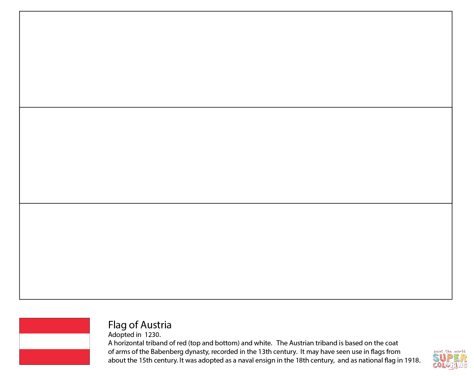 Austria Coloring Download Austria Coloring