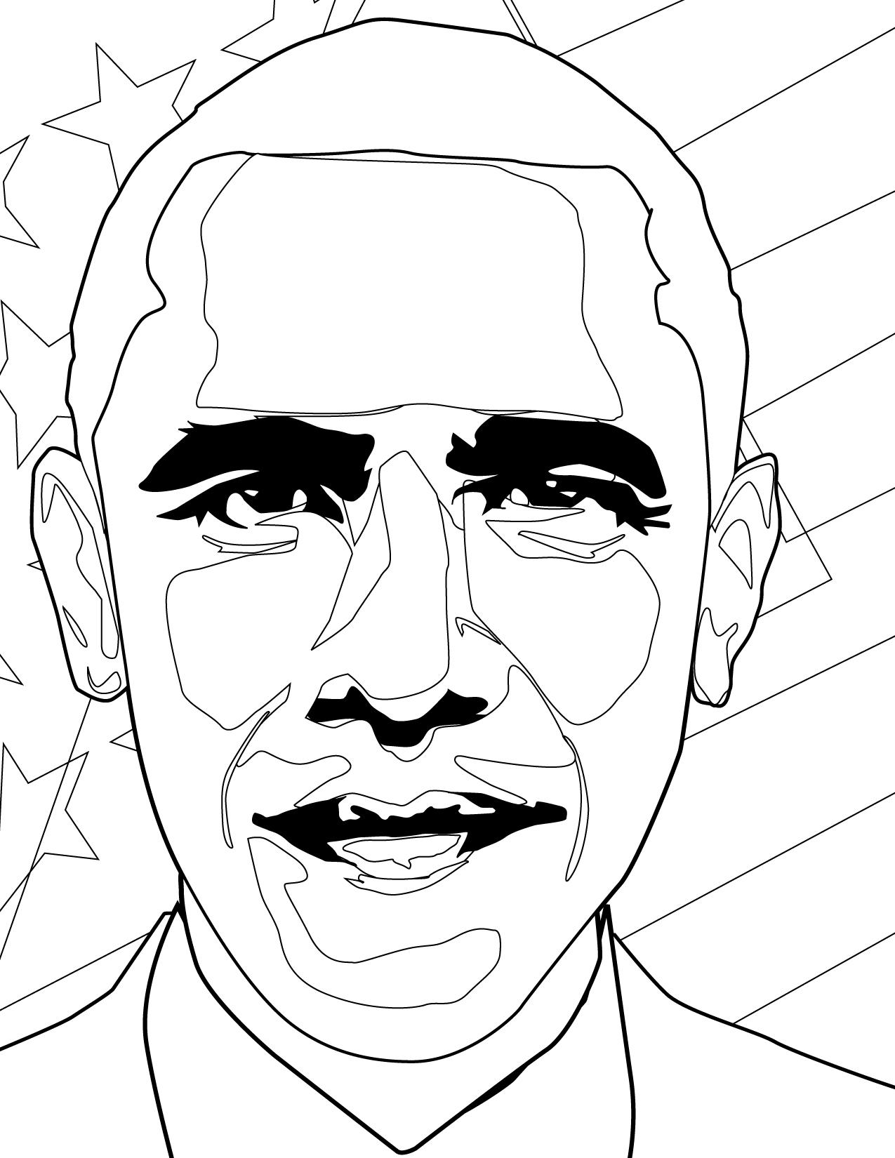 Download Barack Obama Coloring For Free