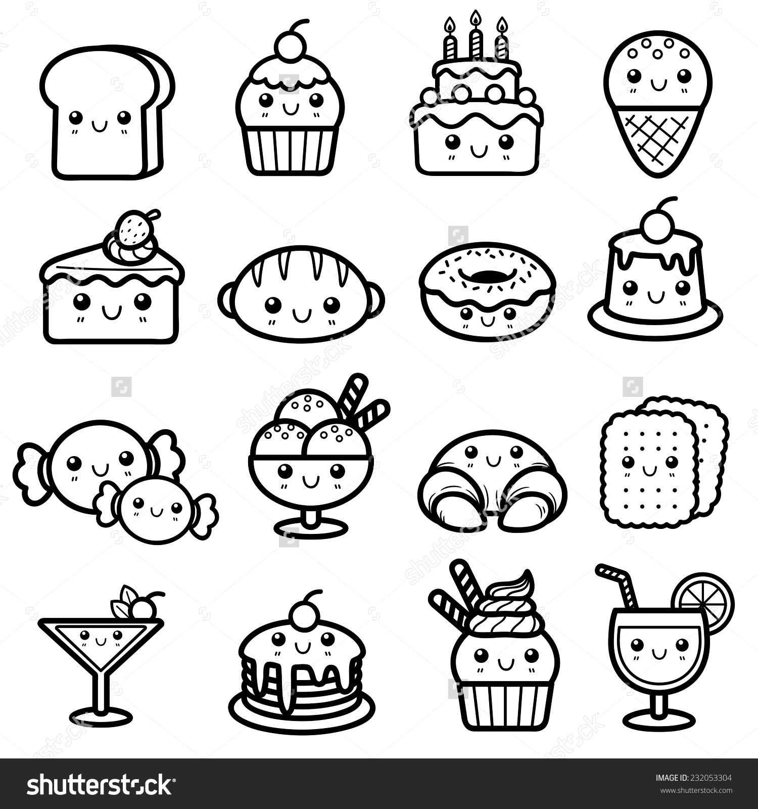 Dessert Coloring Download Dessert Coloring