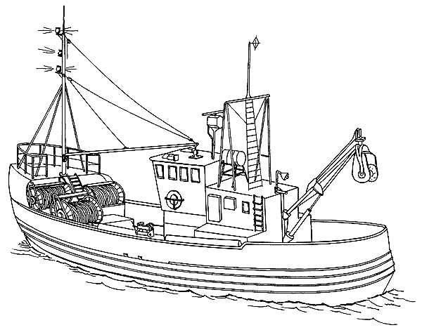 fishing boat coloring download fishing boat coloring for