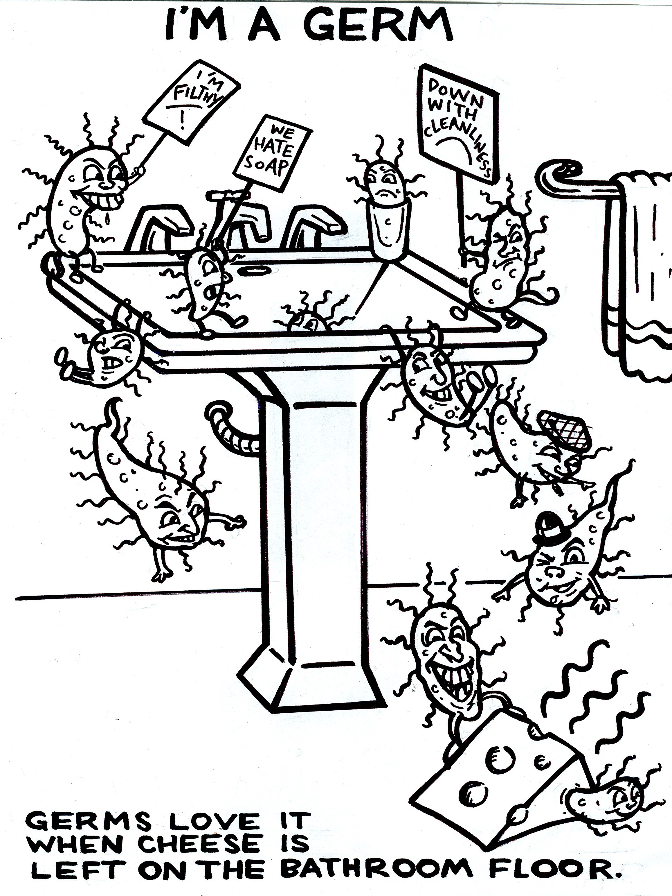 Download Germs Coloring For Free