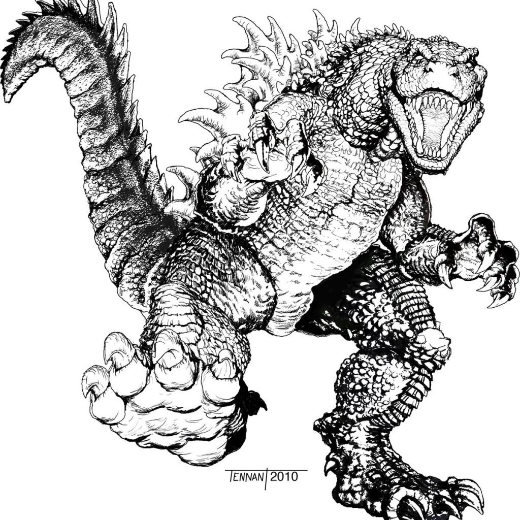 Godzilla Coloring Download Godzilla Coloring For Free