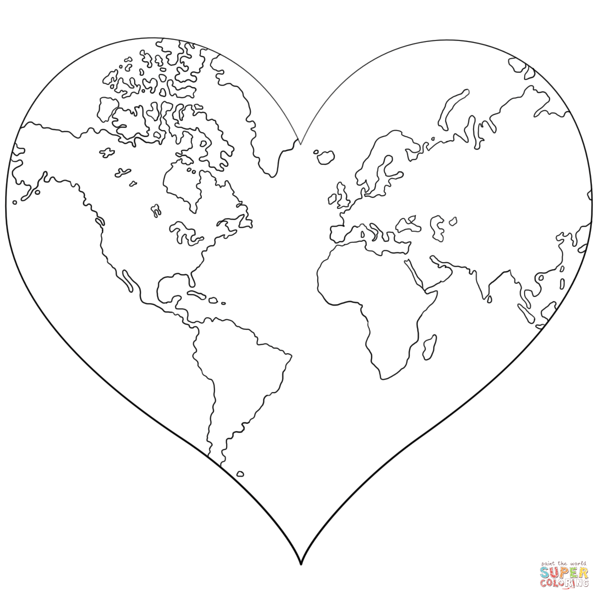 Heart Shaped Coloring Download Heart Shaped Coloring For