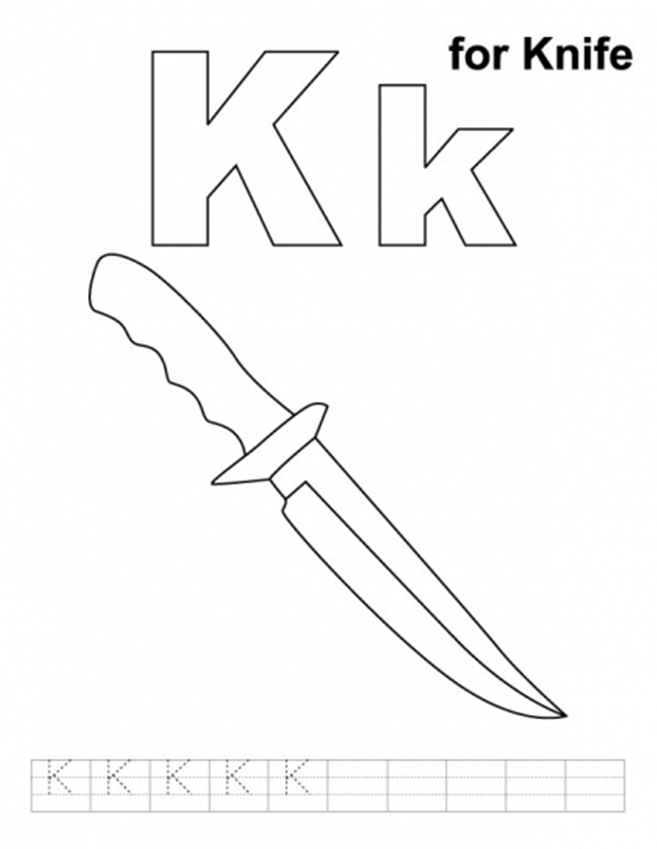 Knife Coloring Download Knife Coloring