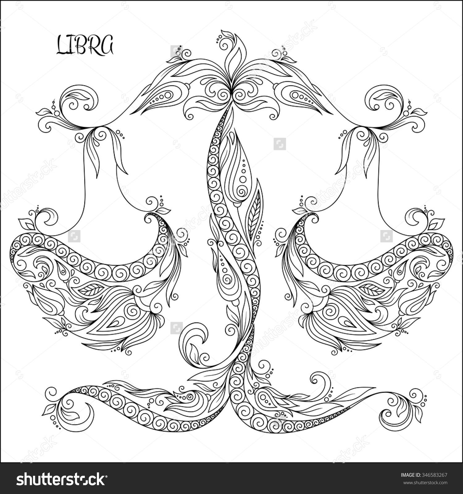 Libra Coloring Download Libra Coloring