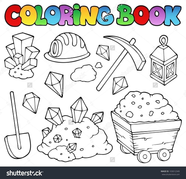 Minerals Coloring Download Minerals Coloring
