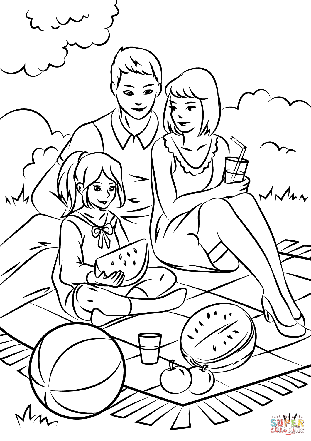 Picnic Coloring Download Picnic Coloring For Free