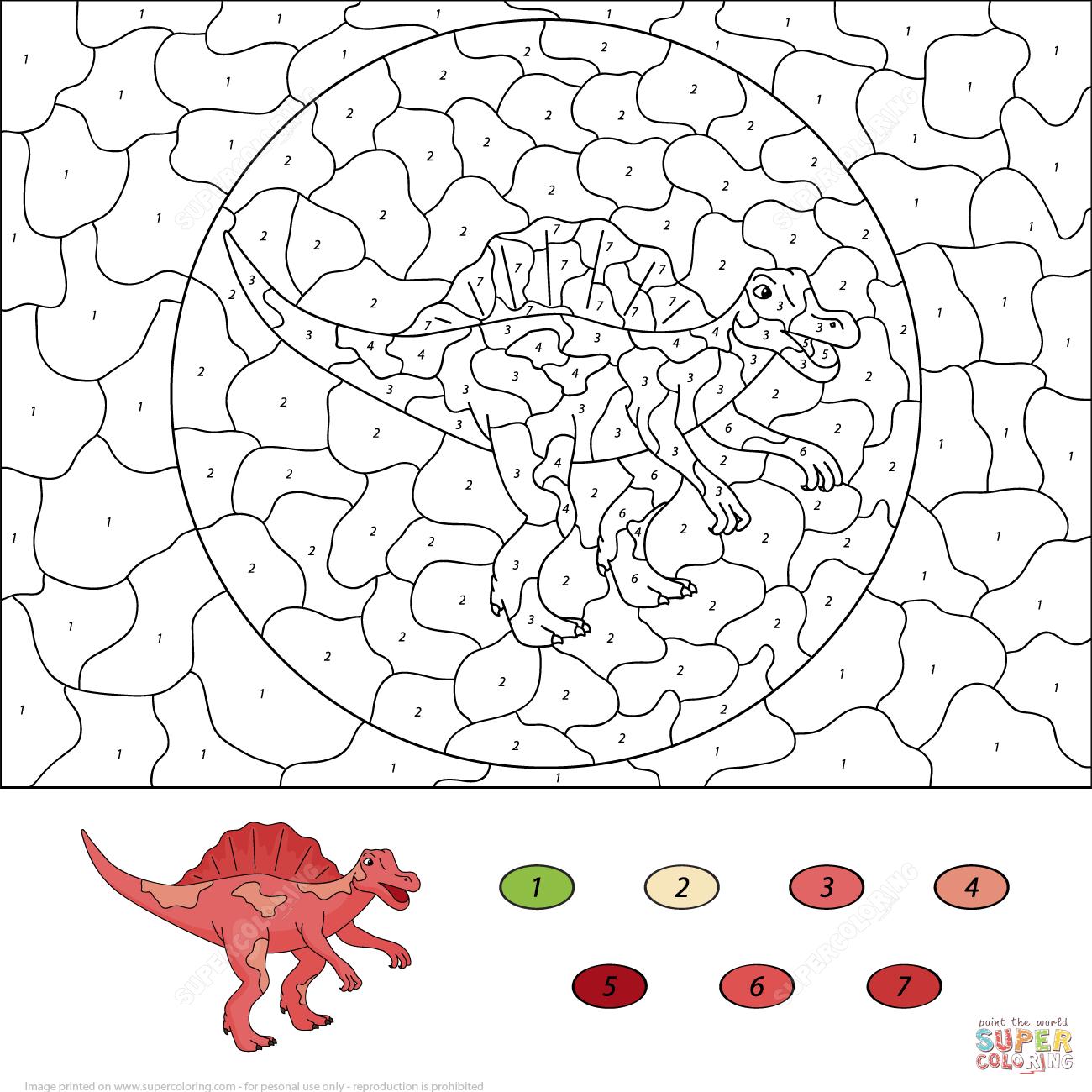 Spinosaurus Coloring Download Spinosaurus Coloring For