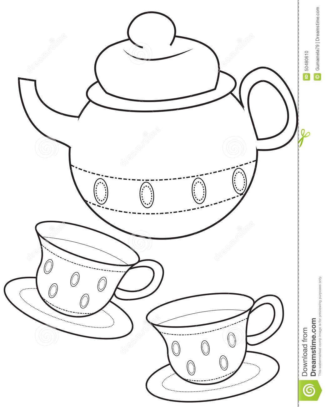 Tea Cup Coloring Download Tea Cup Coloring