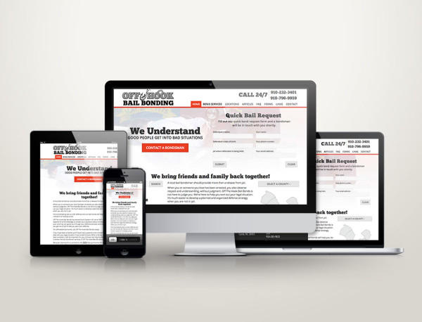 Off The Hook Bail Bonding - Web Design