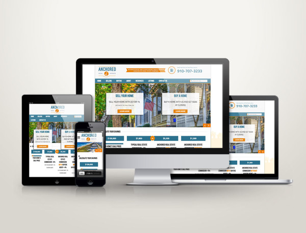 Anchored Real Estate - Web Design