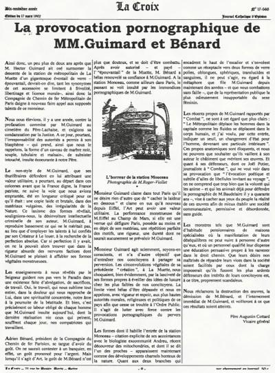 Design Luminy guimard-article-221x300 La provocation pornographique de messieurs Guimard et Bénard Histoire du design Références Textes  Hector Guimard fonctionnalisme