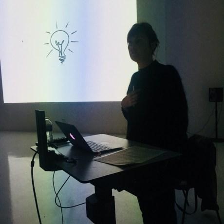 Design Luminy IMG_4557 Nathalie Dewez - Conférence et séance de travail en atelier Intervenants invités Work in progress  Nathalie Dewez Idir Messaoud Cassandre Aurick