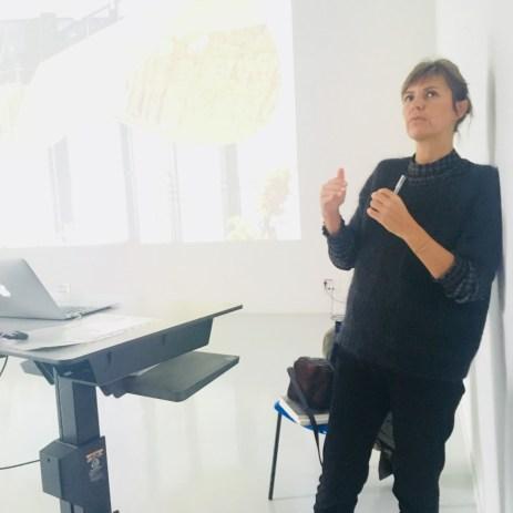 Design Luminy IMG_4596 Nathalie Dewez - Conférence et séance de travail en atelier Intervenants invités Work in progress  Nathalie Dewez Idir Messaoud Cassandre Aurick