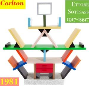 Design Luminy Étagère-Carlton-1981-Ettore-Sottsass-1917-1997-2 Étagère Carlton 1981 Ettore Sottsass 1917-1997 2