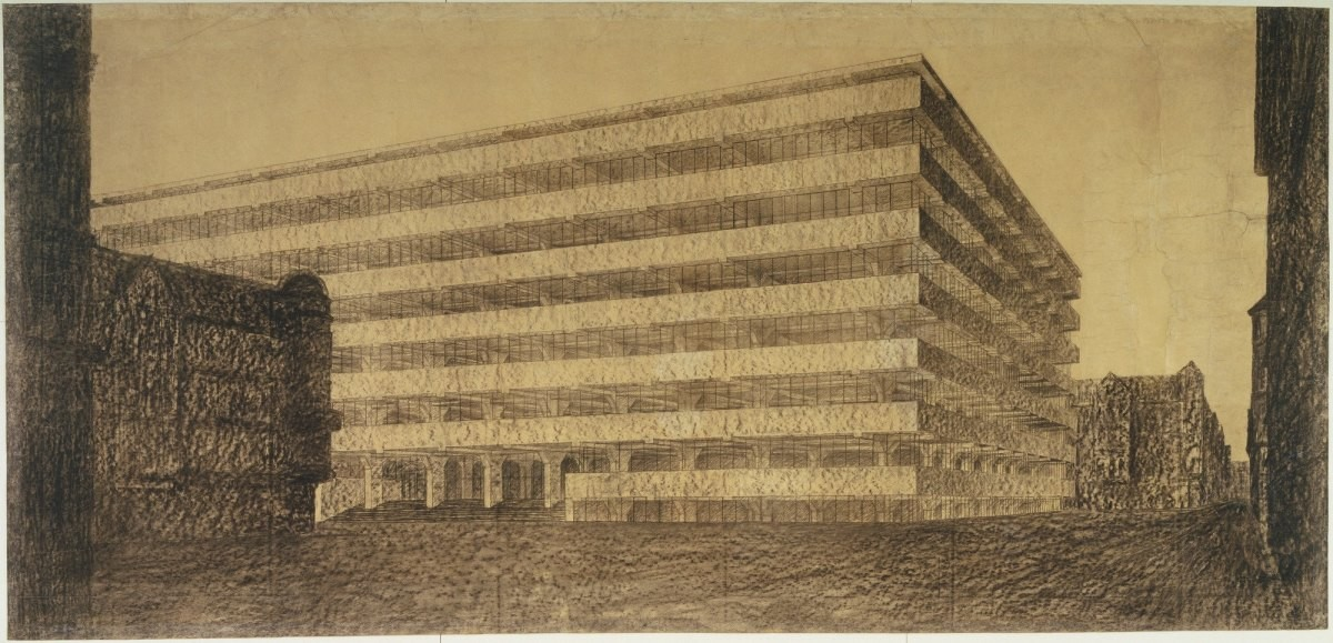 Design Luminy ludwig-mies-van-der-rohe-concrete-office-building-project-berlin-germany-exterior-perspective-1923 Aperçu rapide    Design Marseille Enseignement Luminy Master Licence DNAP+Design DNA+Design DNSEP+Design Beaux-arts