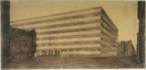 Design Luminy ludwig-mies-van-der-rohe-concrete-office-building-project-berlin-germany-exterior-perspective-1923 Ludwig Mies van der Rohe – Thèses de travail – 1923 Histoire du design Références Textes  Mies van der Rohe   Design Marseille Enseignement Luminy Master Licence DNAP+Design DNA+Design DNSEP+Design Beaux-arts