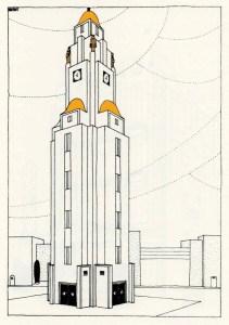 Design Luminy Beffroi-Une-Cite-Moderne-colorise-Mallet-Stevens Beffroi Une Cite Moderne colorise Mallet Stevens