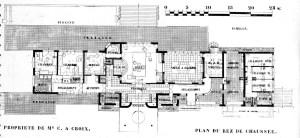Design Luminy AA-1932-N8-Plan-Rez-300x138 Robert Mallet-Stevens – La Villa Cavrois, Architecture d'Aujourd'hui, N° 8, nov 1932 Histoire du design Icônes Références Textes  Robert Mallet-Stevens