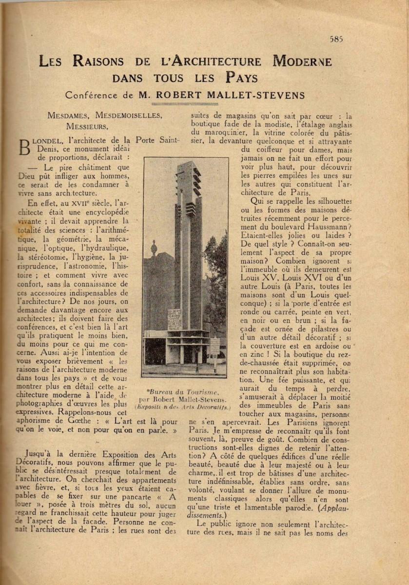 Design Luminy Conférence-22Les-raisons-de-larchitecture-moderne-dans-tous-les-pays22-1er-décembre-1926-1-1 Aperçu rapide    Design Marseille Enseignement Luminy Master Licence DNAP+Design DNA+Design DNSEP+Design Beaux-arts