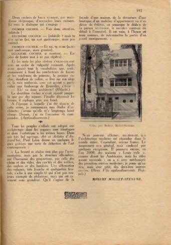 Design Luminy Conférence-22Les-raisons-de-larchitecture-moderne-dans-tous-les-pays22-1er-décembre-1926-13-1 Robert Mallet-Stevens – Les raisons de l'architecture moderne dans tous les pays (conférence) Histoire du design Références Textes  Robert Mallet-Stevens