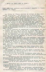 Design Luminy Note_page1_1-191x300 Robert Mallet-Stevens – Note concernant quelques modifications à apporter à l'enseignement de l'École des Beaux-Arts de Lille (1935) Histoire du design Références Textes  Robert Mallet-Stevens pédagogie enseignement