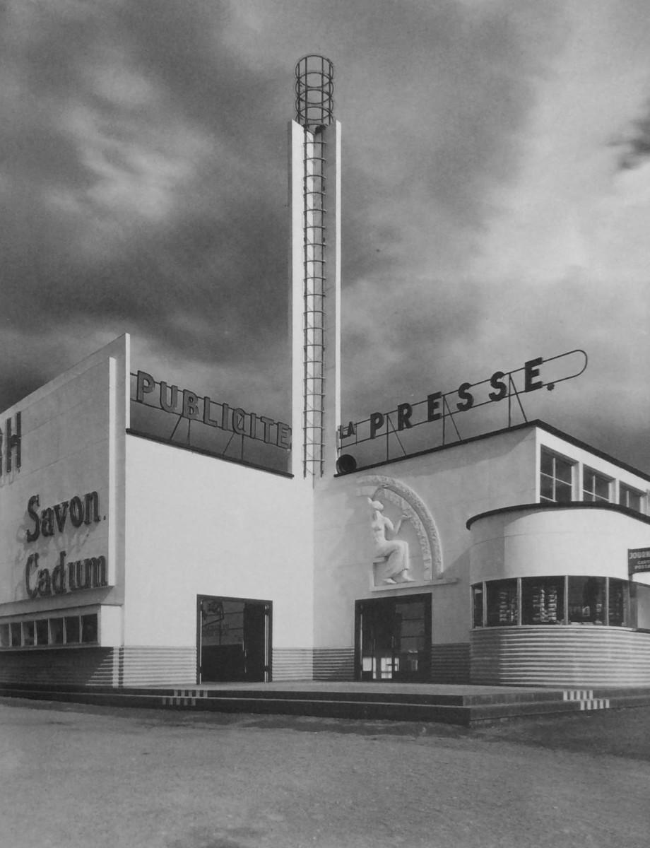 Design Luminy Pavillon-Presse-et-Publicite-Mallet-Stevens-Lille-1939 Robert Mallet-Stevens – L'architecture est un art essentiellement géométrique Histoire du design Références Textes  Robert Mallet-Stevens Architecture