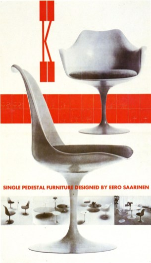 Design Luminy chaise-tulipe-saarinen-publicite3_21460004918_o Chaise Tulipe 1956 – Eero Saarinen (1910-1961) Histoire du design Icônes Références  Tulipe Knoll Eero Saarinen