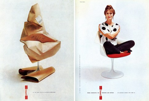 Design Luminy chaise-tulipe-saarinen-publicite5_21026825893_o Chaise Tulipe 1956 – Eero Saarinen (1910-1961) Histoire du design Icônes Références  Tulipe Knoll Eero Saarinen