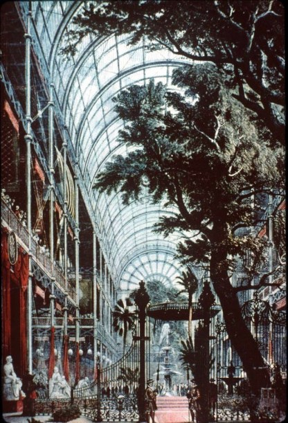 Design Luminy interieur-arbres_21500973791_o Crystal Palace 1851 - Joseph Paxton (1803-1865) Histoire du design Icônes Références  Owen Jones Joseph Paxton Henry Cole Exposition universelle Crystal Palace