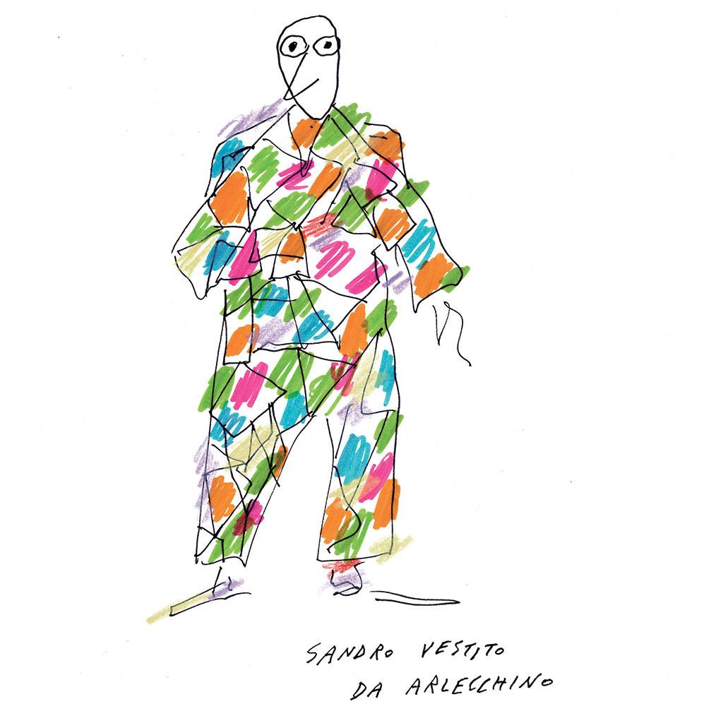 Design Luminy 1024x1024_Mendini_selfportrait_Harlekino Alessandro Mendini (1931-2019) – Adieu cohérence Histoire du design Références Textes  Alessandro Mendini
