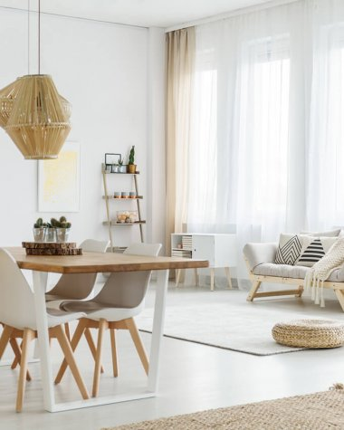Warm scandi home