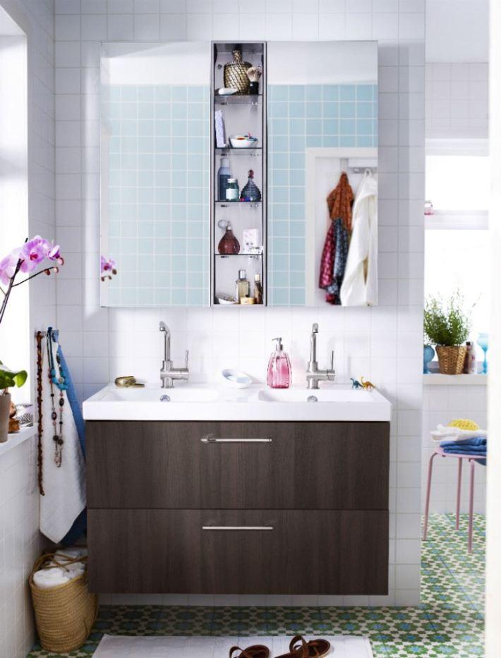 aménagement peinture salle de bains idée meuble ikea