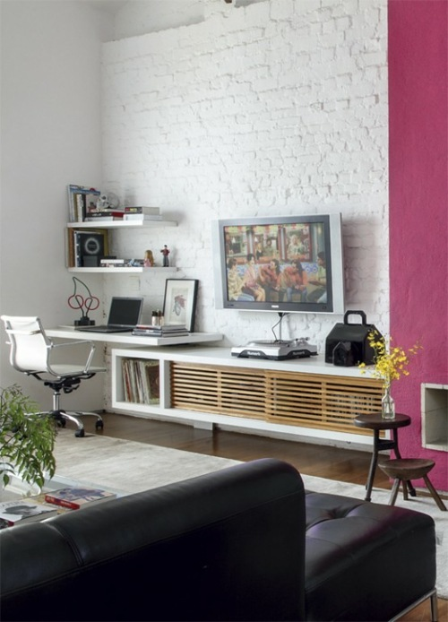 Le Salon En Brique Rouge Stylis En 35 Exemples Vous