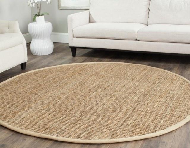 tapis sisal pour le salon contemporain