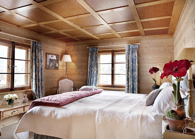 Awesome Chalet Montagne Klosters Chambre Plafond Boiseries